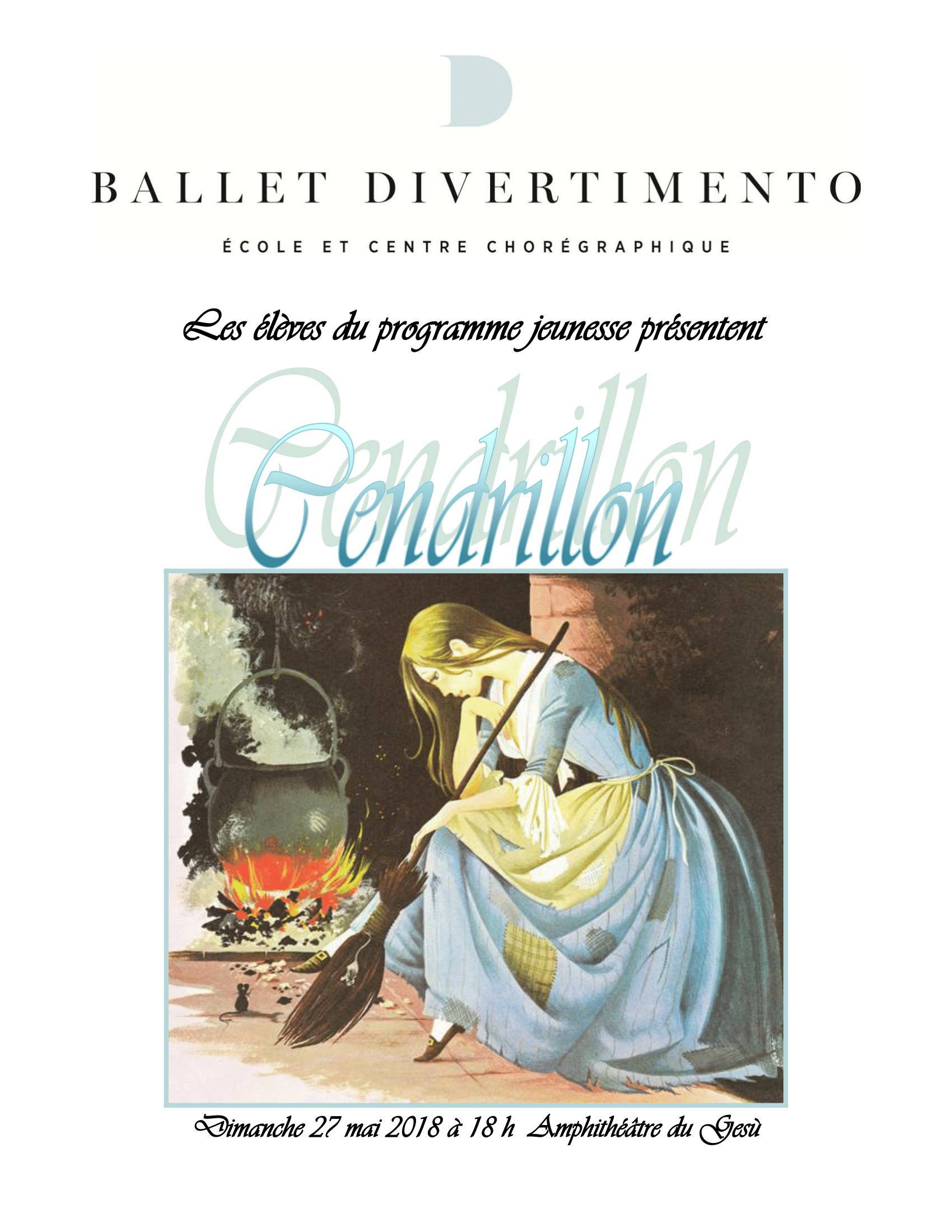 """Ballet Divertimento présente """"Cendrillon"""""""